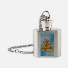 beekeepers iph4 Flask Necklace