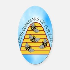 beekeepers iph4 Oval Car Magnet