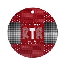 RTR houndstooth  Round Ornament