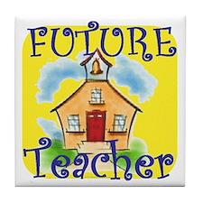Future Teacher.gif Tile Coaster