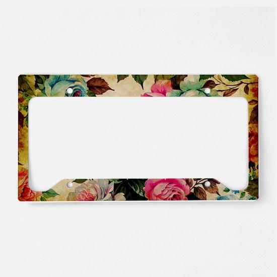 Bag Antique Floral License Plate Holder