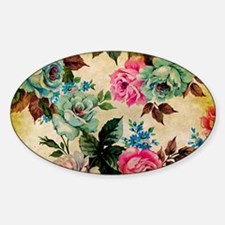 Bag Antique Floral Sticker (Oval)