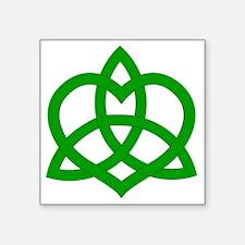"Gaelic-Love-Knot-pock Square Sticker 3"" x 3"""
