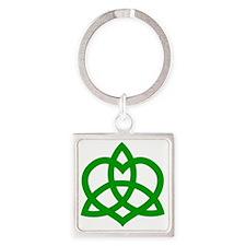 Gaelic-Love-Knot-pock Square Keychain