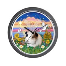 Autumn Angel - guinea pig 1 Wall Clock