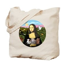 Mona Lisas Three Guinea Pigs Tote Bag