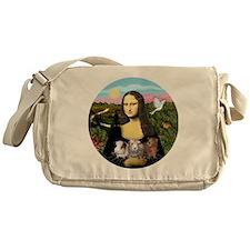 Mona Lisas Three Guinea Pigs Messenger Bag
