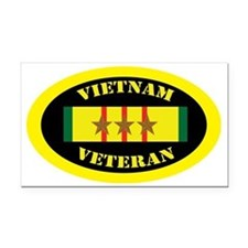 vietnam-oval-3 Rectangle Car Magnet