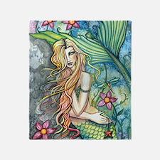 Fresh Water Mermaid cp Throw Blanket