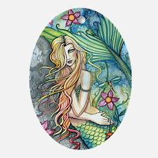 Fresh Water Mermaid cp Oval Ornament