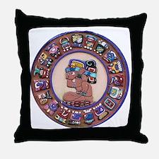 Mayan Calendar Stone Throw Pillow