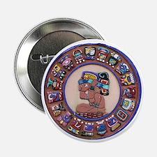 """Mayan Calendar Stone 2.25"""" Button"""