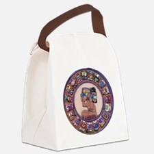 Mayan Calendar Stone Canvas Lunch Bag
