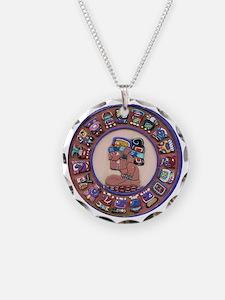 Mayan Calendar Stone Necklace