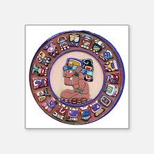 "Mayan Calendar Stone Square Sticker 3"" x 3"""