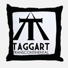 Taggart Transcontinental Black Throw Pillow