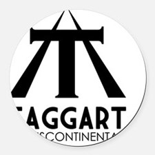 Taggart Transcontinental Black Round Car Magnet