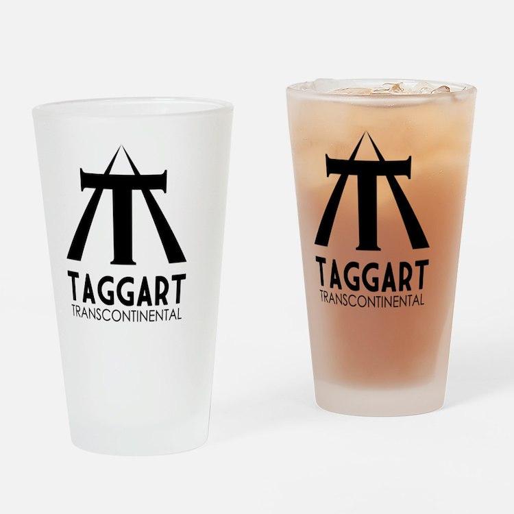 Taggart Transcontinental Black Drinking Glass