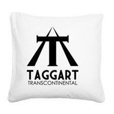 Taggart Transcontinental Blac Square Canvas Pillow