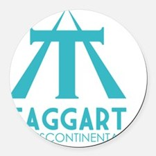 Taggart Transcontinental blue Round Car Magnet