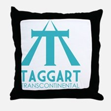 Taggart Transcontinental blue Throw Pillow