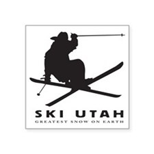 "Ski Utah Square Sticker 3"" x 3"""