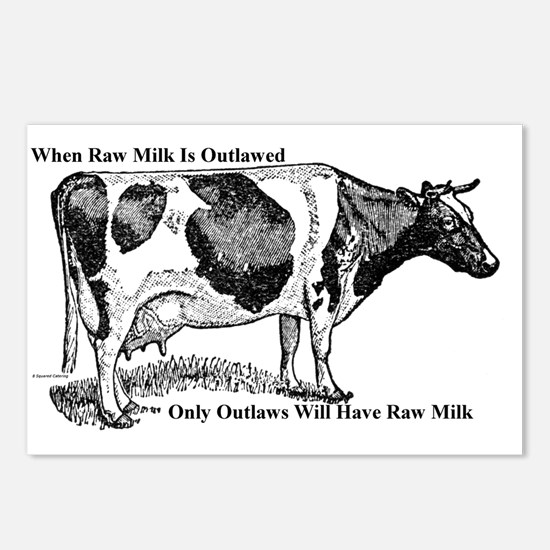 Raw Milk Outlaws V2 Postcards (Package of 8)