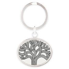 Oakland Tree Oval Keychain