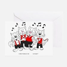 Chorus Cats in color best best Greeting Card
