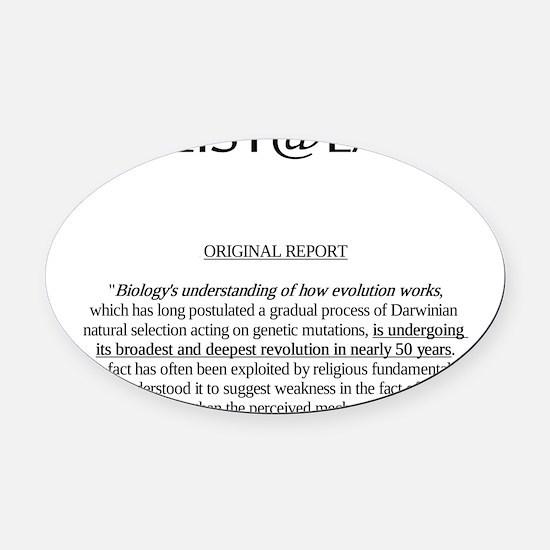 evolutionnoweakness2 Oval Car Magnet