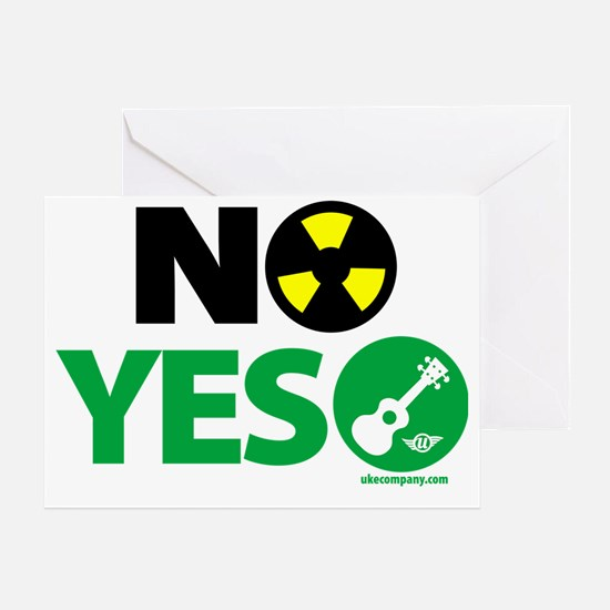 NO Nukes, Yes Ukes Greeting Card