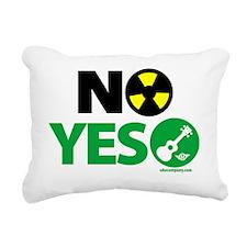 NO Nukes, Yes Ukes Rectangular Canvas Pillow