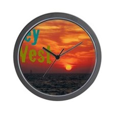 11.5x9at260Sunset1KW Wall Clock