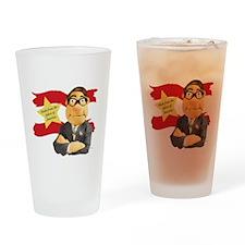 tshirt_Design2A_black Drinking Glass