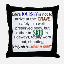 Lifes Journey Throw Pillow