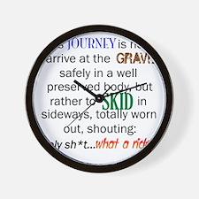 Lifes Journey Wall Clock