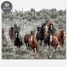 5x7greetingcard_Horses_Galloping_through_sa Puzzle