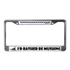 Siberian Husky Dog Sled Musher Mush! License Plate