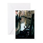 Gondola in the Shadows Greeting Cards