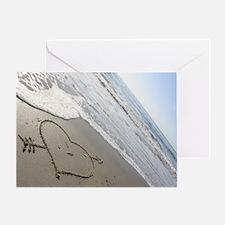 Beachwrites Heart Greeting Card