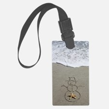 Beachwrites Snowman Luggage Tag