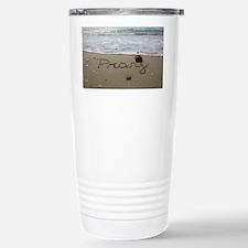 Pray by Beachwrite Stainless Steel Travel Mug