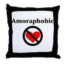 Amoraphobic Throw Pillow