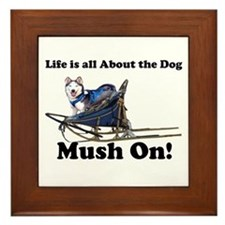 Siberian Husky Mush On! Framed Tile