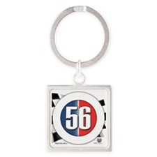 roundlogo56 Square Keychain