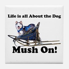 Siberian Husky Mush On! Tile Coaster