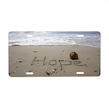 Hope by Beachwrite Aluminum License Plate