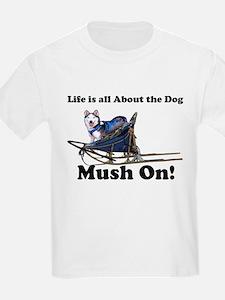 Siberian Husky Mush On! Kids T-Shirt