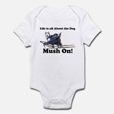 Siberian Husky Mush On! Infant Creeper