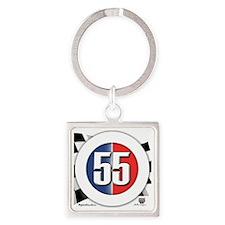 roundlogo55 Square Keychain